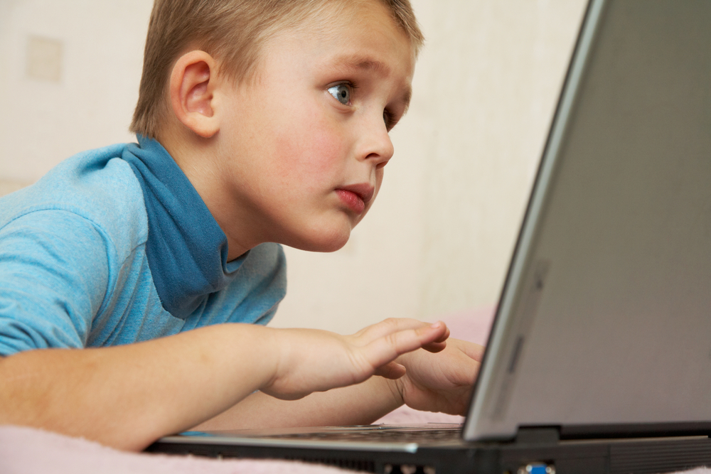 child on internet